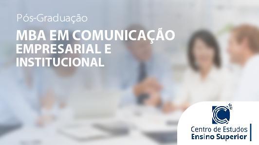 Mba Em Comunicação Empresarial E Institucional