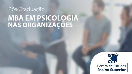 MBA em Psicologia nas Organizações